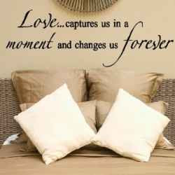 ... quotes to romantic sayings, wall quotes for the bedroom are a great