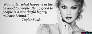 Taylor Swift Quote No Matter Facebook Cover