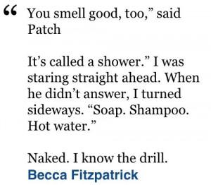 Hush hush quote- becca Fitzpatrick