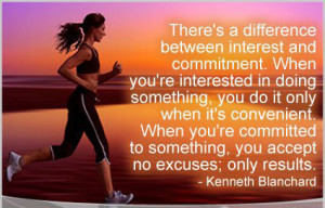 ... to something, you accept no excuses, only results.