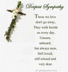 SYMPATHY - LOSS of a LOVED ONE