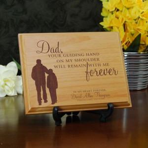 Dad's Guiding Hand Memorial Plaque PQ13028