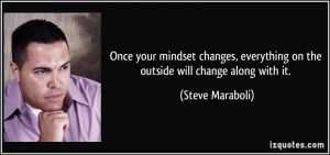 Once your mindset changes, everything on the outside will change along ...
