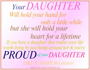 Your Daughter will hold your hand for only a little while