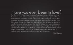 Neil Gaiman - I Hate Love by SarimUriel