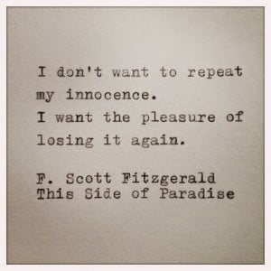 What's your favorite Fitzgerald quote?