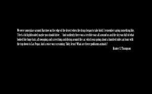 quotes Hunter S_ Thompson wallpaper background