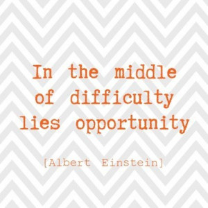 Daily inspirational quotes, sayings, opportunity, albert einstein