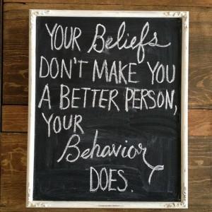 Behavior > Beliefs