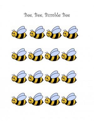 Rhythm Chart for Bee Bee Bumble Bee