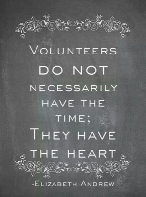 The strength of United Way is in our Volunteers and we thank you.