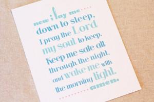 Bedtime Prayer Print