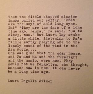 Laura Ingalls Wilder Quote Typed on Typewriter by farmnflea, $13.00