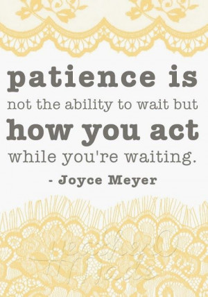 Learning to be still, be patient, and listen.