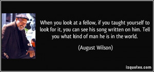 When you look at a fellow, if you taught yourself to look for it, you ...
