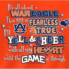auburn tigers girl quotes | Auburn Tigers T-Shirts - Yell & Cheer ...