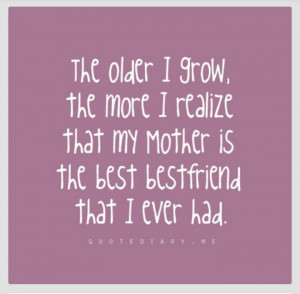 Quotes For Mom Best Friend ~ Mom Best Friend Quotes | Best Friend ...