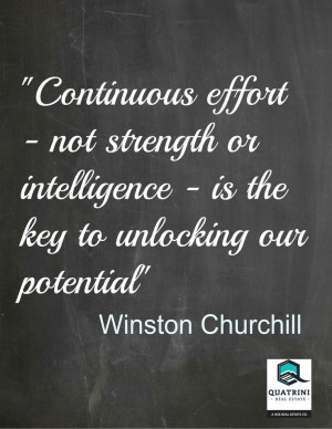 Is The Key To Unlocking Our Potential Sir Winston Churchill