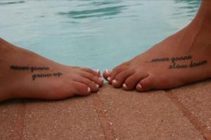 Best Friend Tattoo Quote On Foot