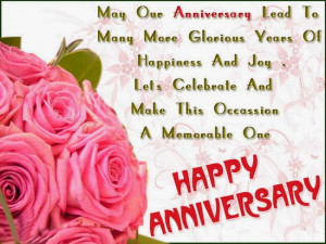 May out anniversary lead to many more glorious years of happiness and ...