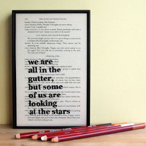 oscar wilde inspirational quote by bookishly | notonthehighstreet.com ...