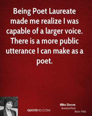 Being Poet Laureate made me realize I was capable of a larger voice ...