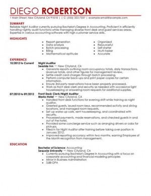 Auditor Resume By Certified Nationally Resume Writer