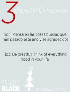 days till Christmas, 3 días para navidad Healthy and positive tips ...