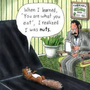 Funny squirrel goes to the psychologist