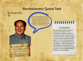 Mao Zedong Revolutionary Quote by hanminkim4