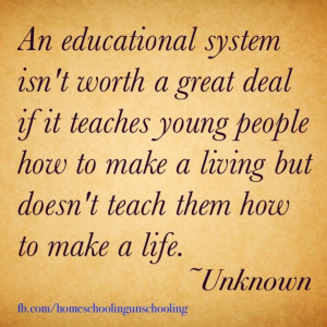 Unschooling. What do you gain from a good grade if you forget all of ...