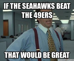 Seahawks Beat 49ers Meme
