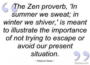 the zen proverb