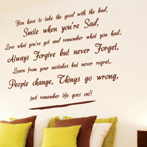 Wall Art Quotes Puts the Writing on the Wall