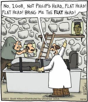 Funny frankenstein cartoon