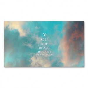Teal Sky Blue Love Quote Double-Sided Standard Business Cards (Pack Of ...