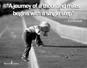 ... Confucius Quote On Taking The First Step To a Life Long Journey