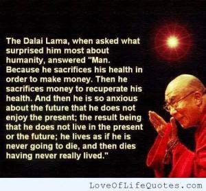 dalai lama quote on life dalai lama quote on inner peace dalai lama ...