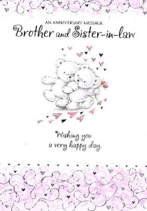 Wedding Anniversary Gift For Sister In Law : Anniversary Quotes For Sister And Brother In Law Happy