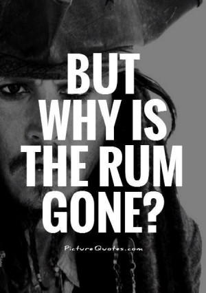 Captain Jack Sparrow Rum Quotes