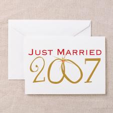 Just Married 2007 Greeting Cards (Pk of 20) for