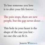 to lose someone you lose