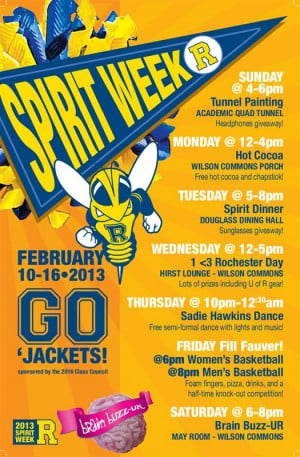 Flyer for Spirit Week Tunnel Painting!