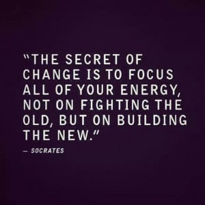 Focus on building the new...