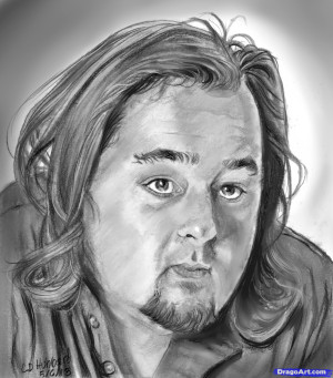 how to draw chumlee, pawn stars, austin russell