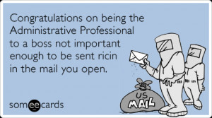 Funny Admin Pros Day Ecard: Congratulations on being the ...