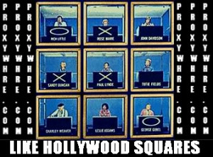HollyWood Squares PWR Picture