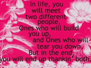 In life you will meet two different people image quotes and sayings