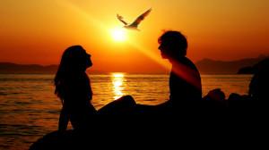romantic couple sunset Wallpaper-HD
