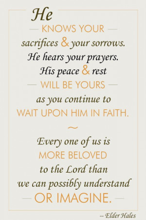Wait Upon Him | Creative LDS Quotes This is a great website. The ...